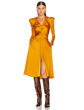 Ruched Front Sateen Dress by Jonathan Simkhai