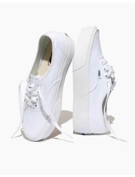 Vans® Unisex Authentic Platform 2.0 Lace Up Sneakers In White Canvas by Madewell