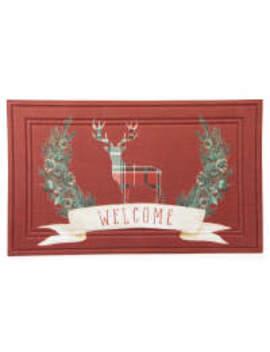 """Winter Wonder Lane """"Welcome"""" Deer Doormat by Winter Wonder Lane """"Welcome"""" Deer Doormat"""