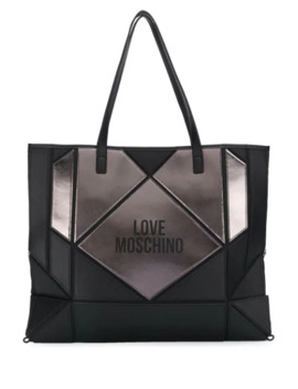 Panelled Tote Bag by Love Moschino