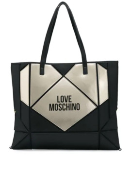 Logo Print Heart Tote by Love Moschino