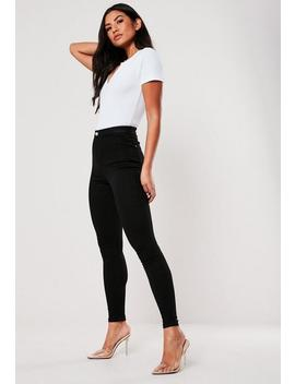 Black Vice Highwaist Super Stretchy Skinny Jeans by Missguided