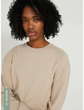 The Drop Shoulder French Terry Sweatshirt In Light Taupe by Frank & Oak