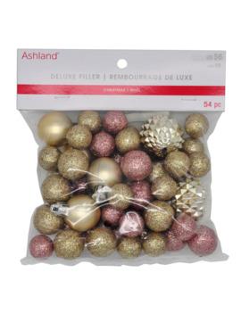 54ct. Glitter Pink & Gold Balls By Ashland® by Ashland