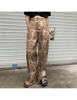 Lanmrem 2019 New Summer Fashion Women Clothes Thin Styles High Waist Printed Wide Legs Pants Female Trousers Wh31704 L by Ali Express.Com