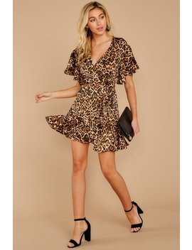 Feline Myself Leopard Print Wrap Dress by Bb Dakota
