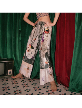 Lanmrem 2019 New Fashion Printed Velvet Patchworek Casual Elastic High Waist Trousers Female's Retro Pants Spring Summer Yh07109 by Ali Express.Com