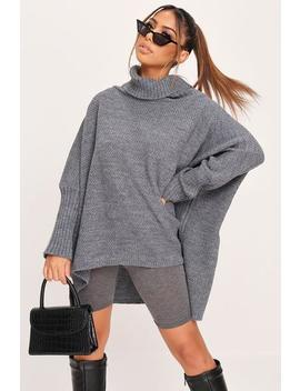 Grey Oversized Roll Neck Jumper by I Saw It First