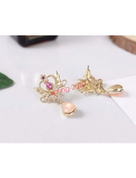 Sailor Moon 25th Anniversary Princess Serenity Tiara Earrings Cosplay Jewelry by Unbranded
