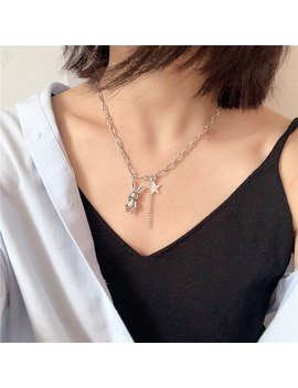 Fashion Retro Old Stars Bunny Necklace Student Hipster Street Beat Clavicle Necklace Hot Sale by Ali Express.Com