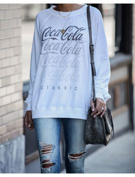 Classic Coca Cola Relaxed Pullover by Vici
