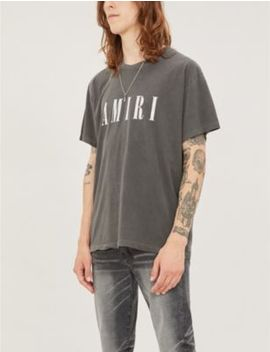 Logo Print Regular Fit Cotton Jersey T Shirt by Amiri