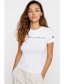 Champion Script Logo Reflective T Shirt by Champion