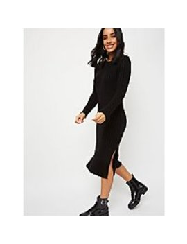 Black Ribbed Midi Dress by Asda