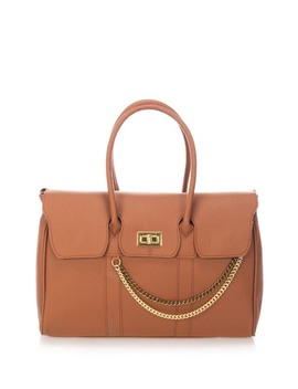 Chain Detail Leather Satchel by Massimo Castelli