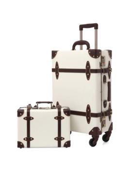 2019 Vintage Suitcase Carry On Luggage Hardside Rolling Spinner Retro Style For Travel by Ali Express.Com