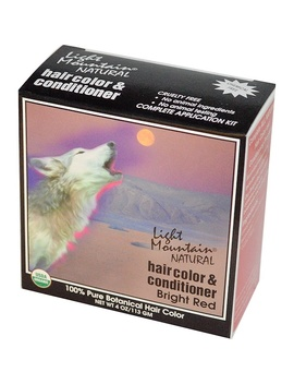 Light Mountain, Natural Hair Color And Conditioner, Bright Red, 4 Oz (113 G) by Light Mountain