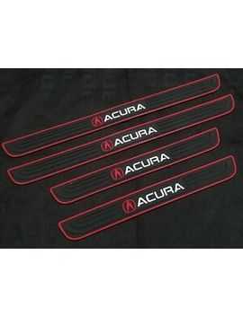 4 Pcs Black Rubber Car Door Scuff Sill Cover Panel Step Protector For Acura by Car Design Performance