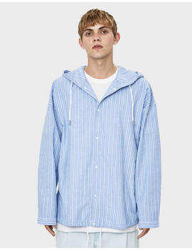 Striped Hooded Overshirt by Bershka