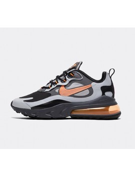 Air Max 270 React  Winter Trainer | Wolf Grey / Orange / Black by Nike