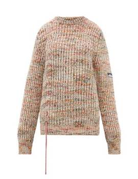 Drawstring Mélange Sweater by Aries