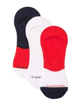 Colorblock No Show Socks   Pack Of 3 by Calvin Klein