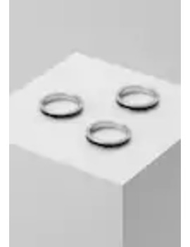 Enamel Inlay Bands 3 Pack   Ringar by Topman