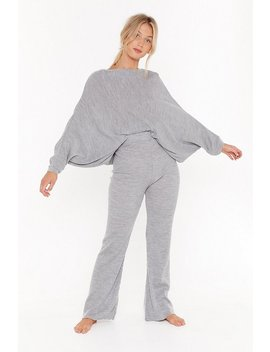 Slash Neck Batwing Sweater &Amp; Jogger Set by Nasty Gal