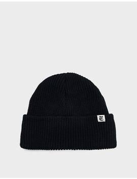 """T"" Knit Watch Cap In Black by The New York Times The New York Times"