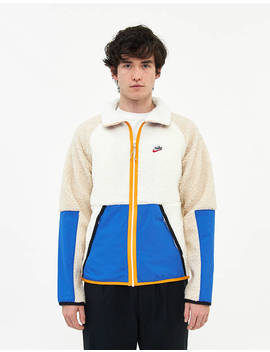 Sherpa Fleece Zip Jacket In Sail by Nike Nike