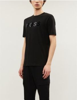 Logo Print Cotton Blend T Shirt by Boss