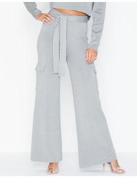 Side Pocket Wide Leg Trousers by Missguided