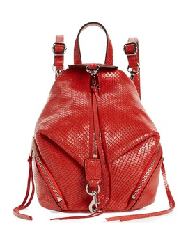 Mini Julian Snake Embossed Leather Convertible Backpack by Rebecca Minkoff