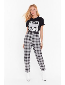 One Check Of A Night Tapered Trousers by Nasty Gal