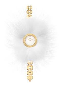 Women's Bracelet Watch With Genuine Arctic Fox Fur, 36mm by Fendi