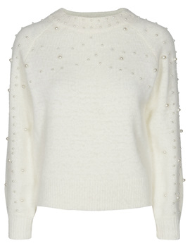 Pcjudy Ls T Neck Knit by Pieces
