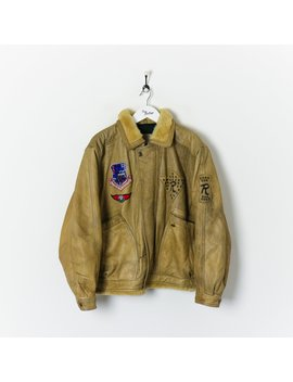 Strategic Air Command Flying Jacket Beige Xl by True Vintage Clothing