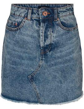 Pccaya Mw Raw Edge Skirt Lb120 Vi by Pieces