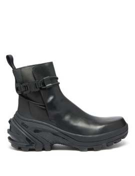 Exaggerated Sole Buckled Leather Chelsea Boots by 1017 Alyx 9 Sm