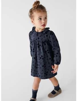 Flocked Textured Dress by Zara