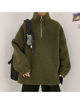 Arthur Look   Zip Collar Fleece Pullover by Arthur Look