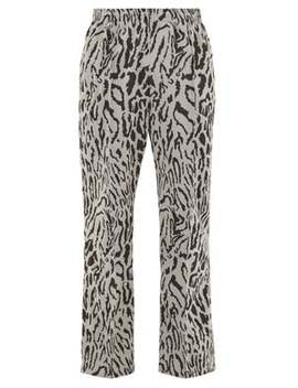 Leopard Print Track Pants by Needles