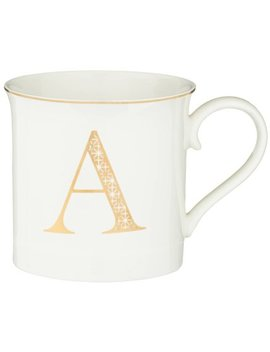 Gold Alphabet Mug by B&M