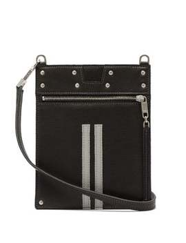 Cross Body Grained Leather Pouch by Rick Owens