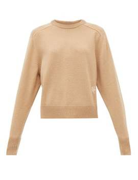 Festive Monogram Embroidered Cashmere Sweater by Chloé