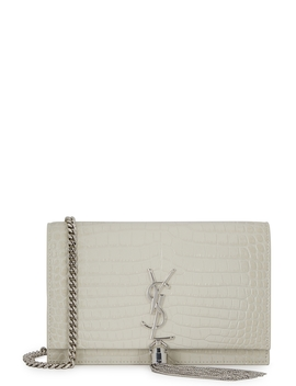 Kate Crocodile Effect Leather Wallet On Chain by Saint Laurent