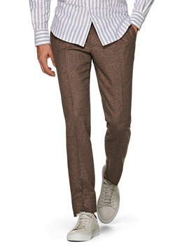 Brentwood Pleated Tweed Wool Dress Pants by Suitsupply