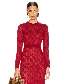 Long Sleeve Ff Sweater by Fendi