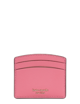 Sylvia Pink Grained Leather Card Holder by Kate Spade New York