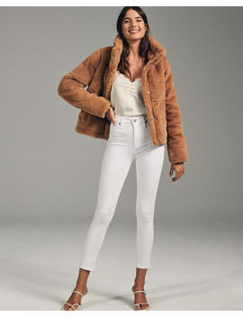 Mini Faux Fur Puffer Jacket by Abercrombie & Fitch